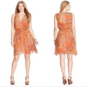 Lauren by Ralph Lauren Paisley Orange Dress